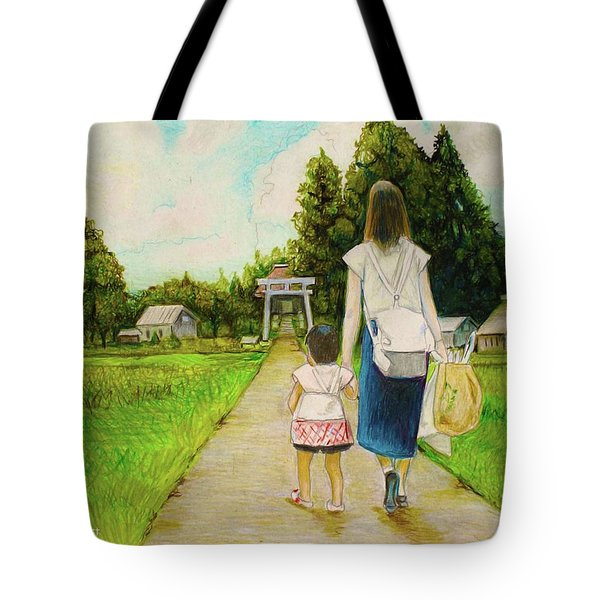 Walking To The Shrine Tote Bag