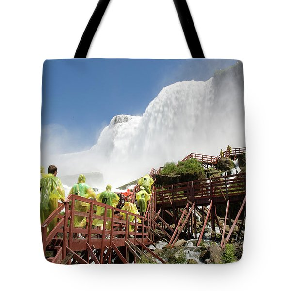 Tote Bag featuring the photograph Walking Up Below Niagara Falls by Jeff Folger