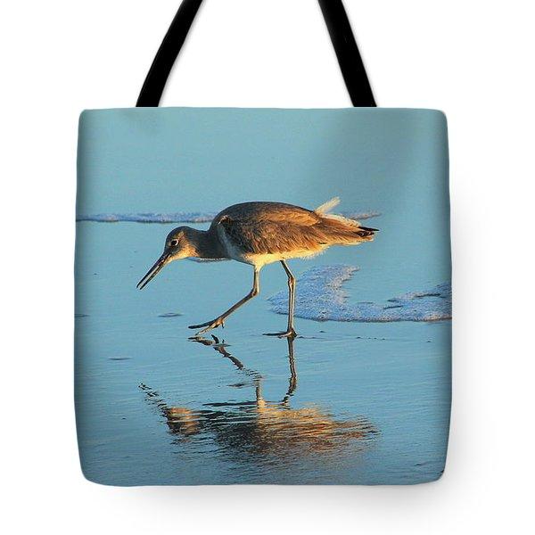 Walking Willet Tote Bag by Rosanne Jordan
