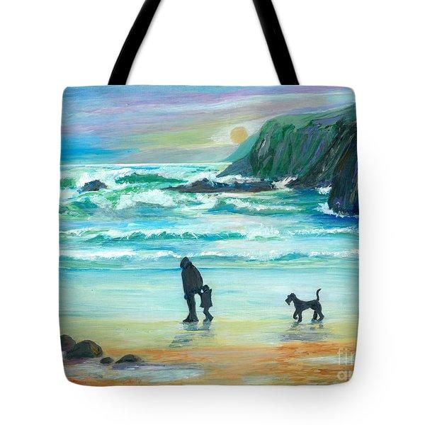 Walking With Grandpa - Painting Tote Bag