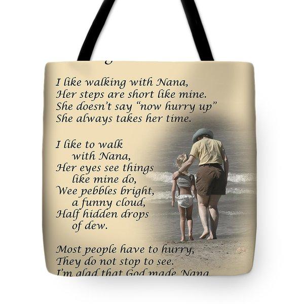 Walking With Nana Tote Bag