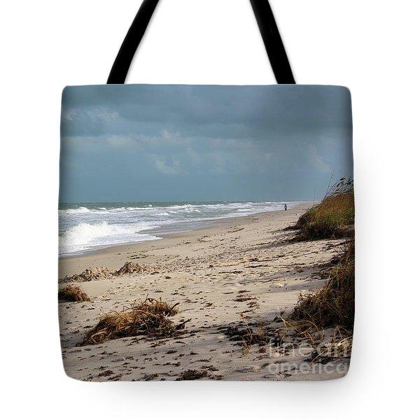 Walks On The Beach Tote Bag