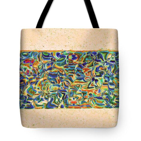 Walkway Abstract Tote Bag