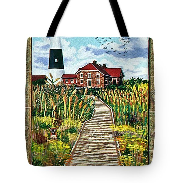 Walkway To Fire Island Lighthouse Tote Bag