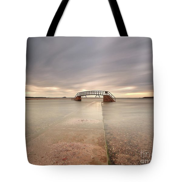 Walkway To The Stairs Tote Bag