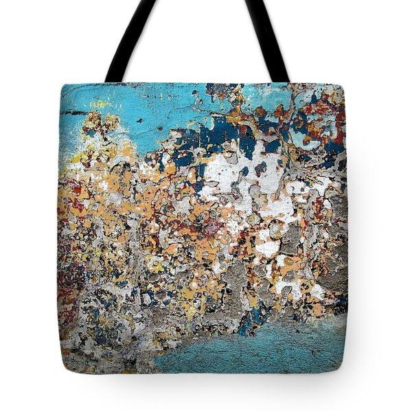 Tote Bag featuring the photograph Wall Abstract 106 by Maria Huntley