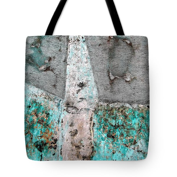 Tote Bag featuring the photograph Wall Abstract 118 by Maria Huntley
