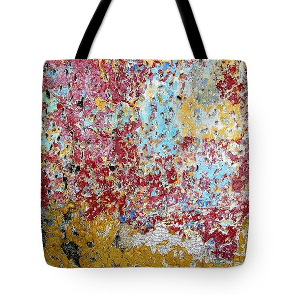 Wall Abstract 123 Tote Bag