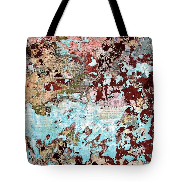 Tote Bag featuring the photograph Wall Abstract 128 by Maria Huntley