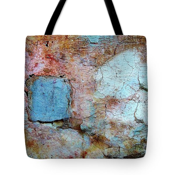 Tote Bag featuring the photograph Wall Abstract 138 by Maria Huntley