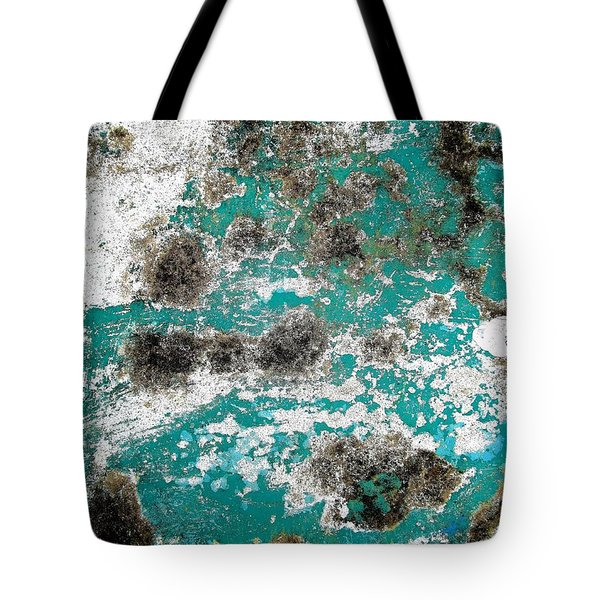 Tote Bag featuring the photograph Wall Abstract 171 by Maria Huntley