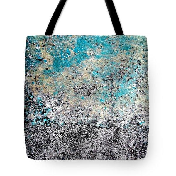 Wall Abstract 174 Tote Bag by Maria Huntley