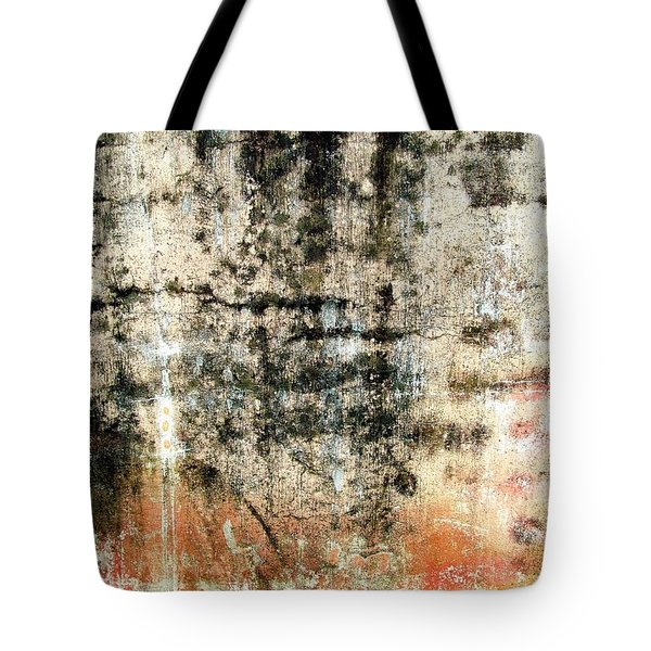 Tote Bag featuring the photograph Wall Abstract 182 by Maria Huntley