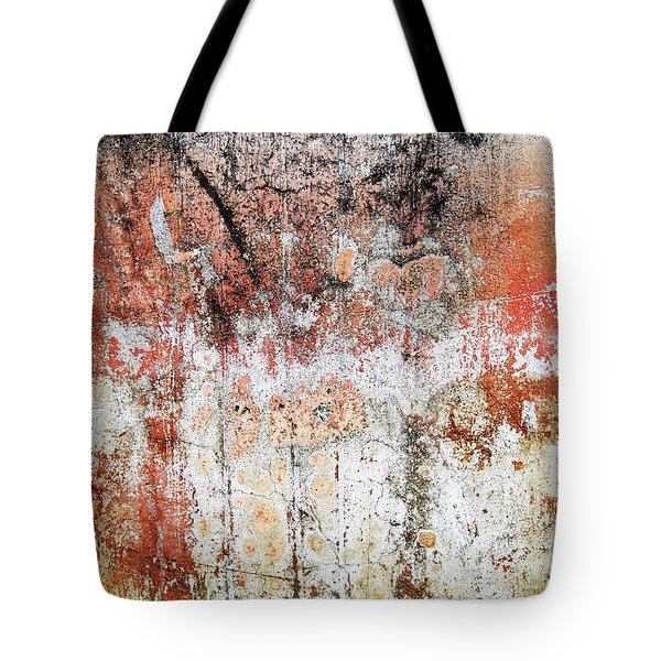 Tote Bag featuring the photograph Wall Abstract  183 by Maria Huntley