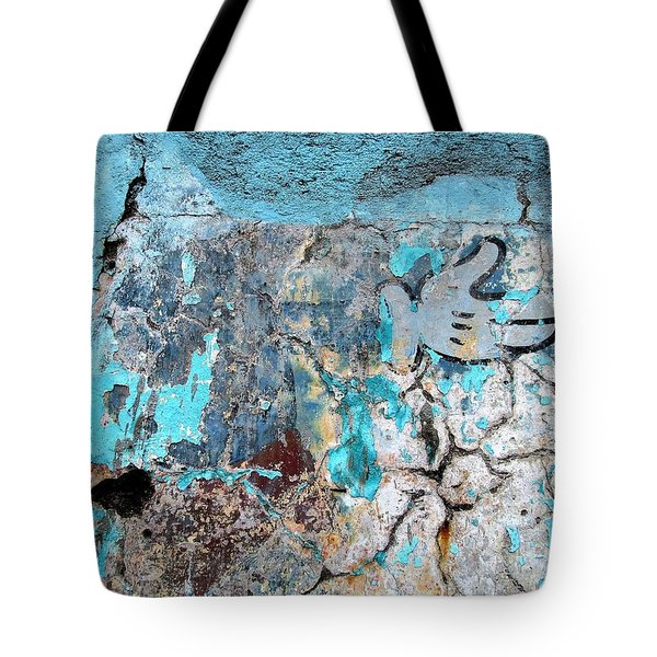 Wall Abstract 211 Tote Bag