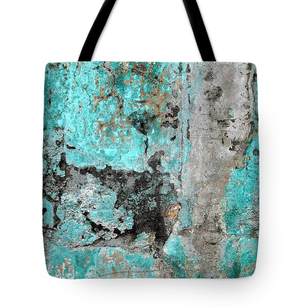 Wall Abstract 219 Tote Bag by Maria Huntley