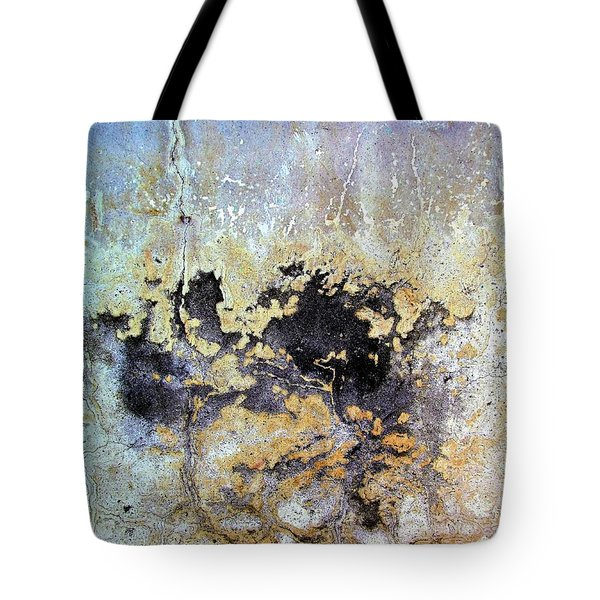 Tote Bag featuring the photograph Wall Abstract 68 by Maria Huntley