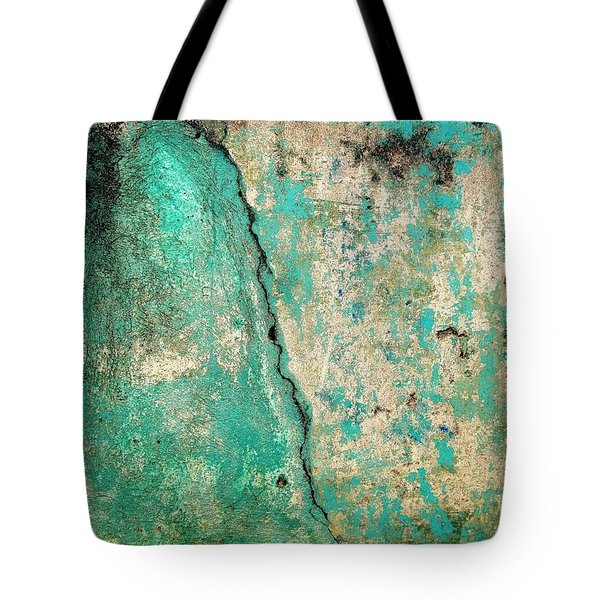 Tote Bag featuring the photograph Wall Abstract 97 by Maria Huntley