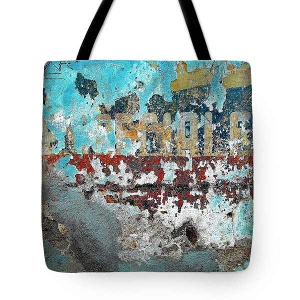 Tote Bag featuring the photograph Wall Abstract 98 by Maria Huntley