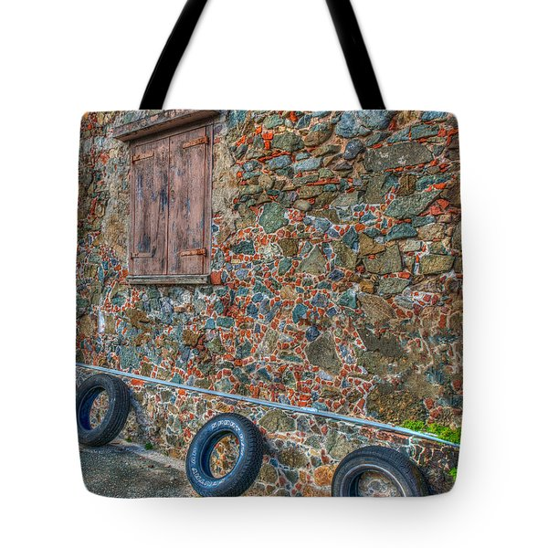 Wall Abstract Tote Bag by James Hammond