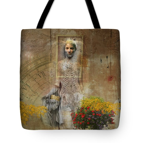 Wall Angel Tote Bag