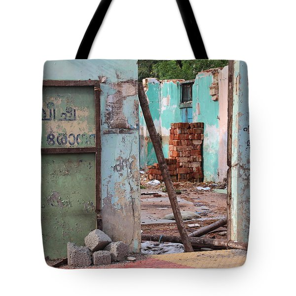 Wall, Door, Open Space In Kochi Tote Bag