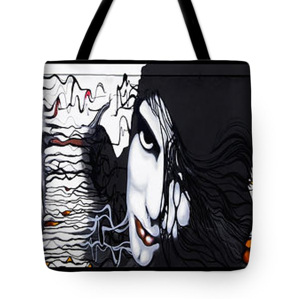 Wall Faces Tote Bag