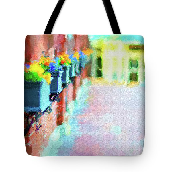 Wall Flower On The Mills In Amesbury Ma Tote Bag