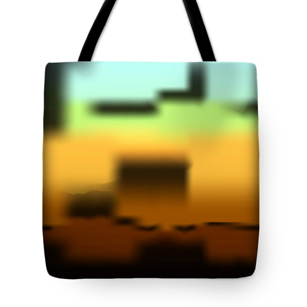 Tote Bag featuring the digital art Wall Gradient by Kevin McLaughlin