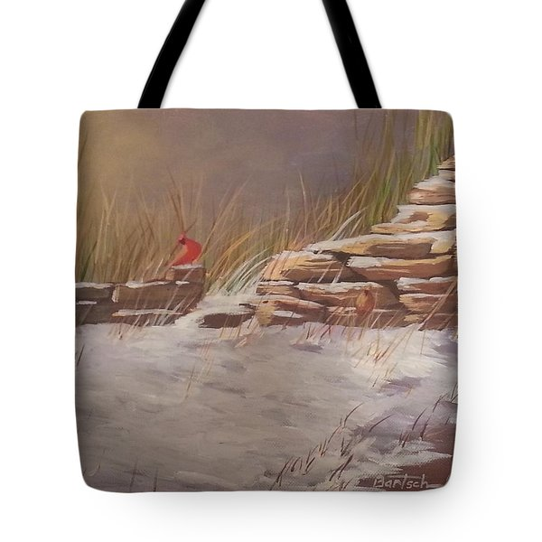 Wall In Winter Tote Bag