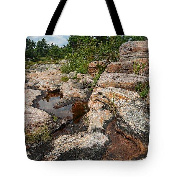 Wall Island Rock-3592 Tote Bag
