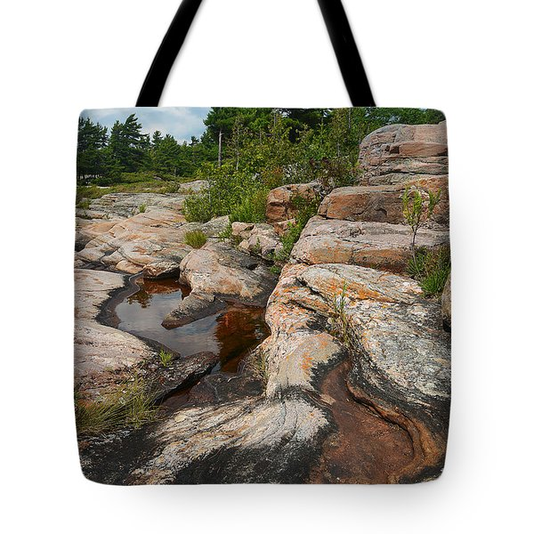 Wall Island Rock-3592 Tote Bag