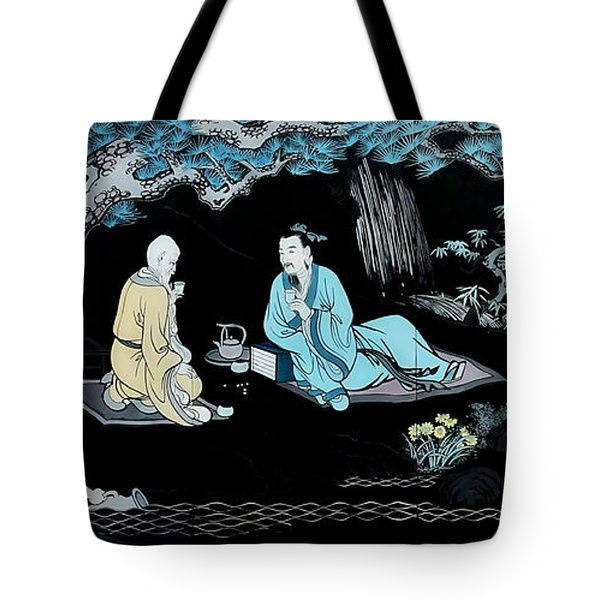 Wall Mural In Qibao - Shanghai - China Tote Bag by Christine Till