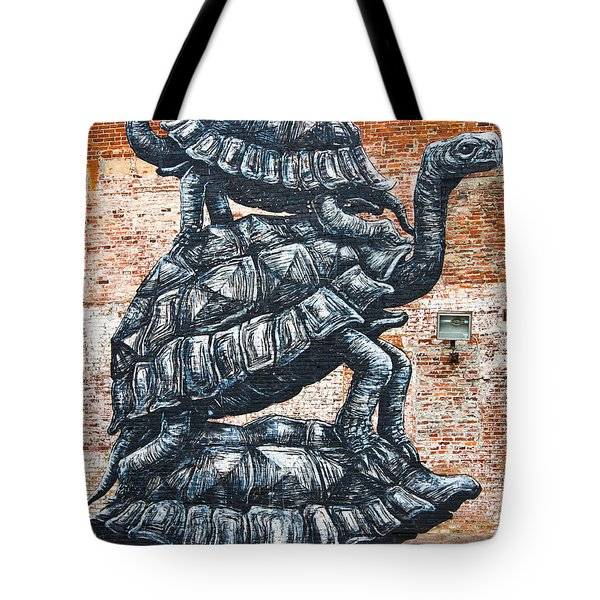 Wall Mural In Richmond Virginia Tote Bag