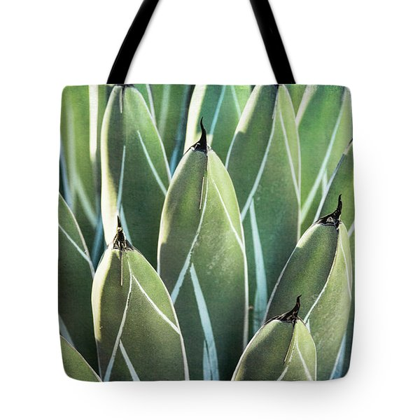 Tote Bag featuring the photograph Wall Of Agave  by Saija Lehtonen