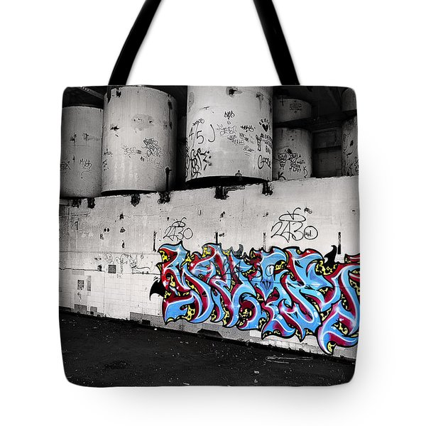 Tote Bag featuring the photograph Wall Of Art 001 by Kevin Chippindall