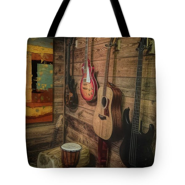 Wall Of Art And Sound Tote Bag