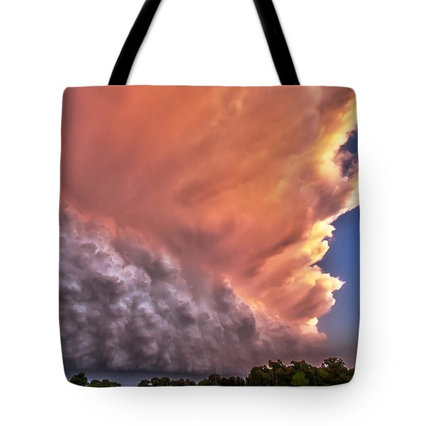Wall Of Boiling Clouds Tote Bag