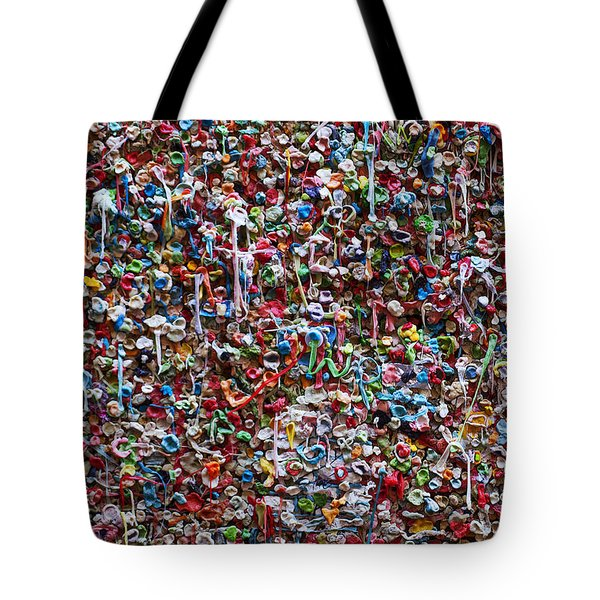 Wall Of Chewing Gum Seattle Tote Bag by Garry Gay