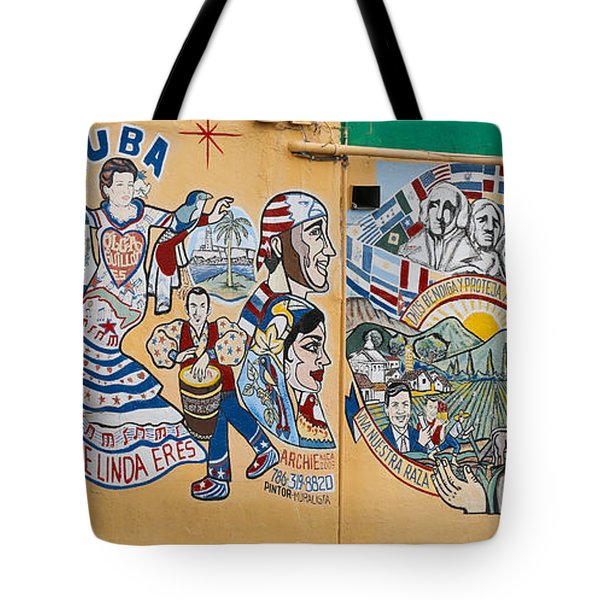 Wall Of Cuba Tote Bag
