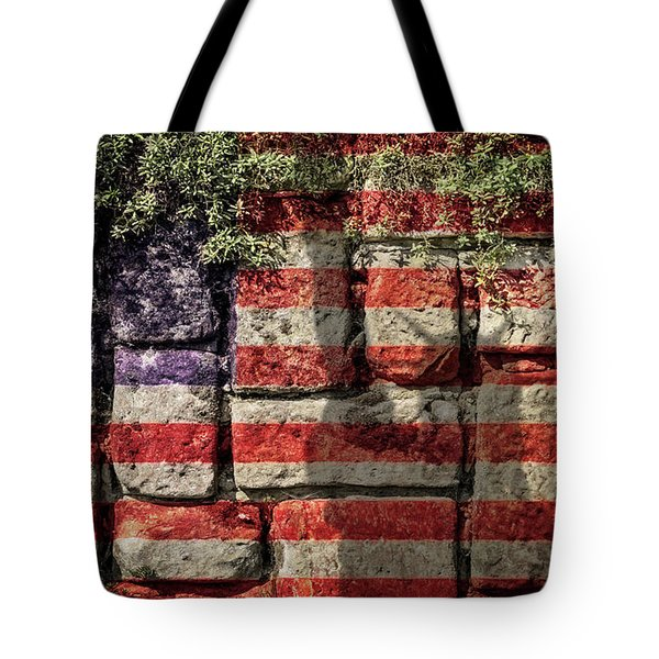 Wall Of Liberty Tote Bag by Wim Lanclus