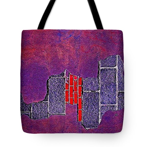 Wall Of Violet Textures Tote Bag