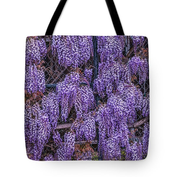 Wall Of Wisteria Tote Bag