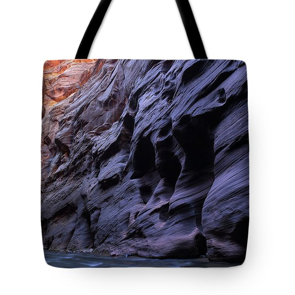 Wall Street At The Narrows At Zion National Park Tote Bag
