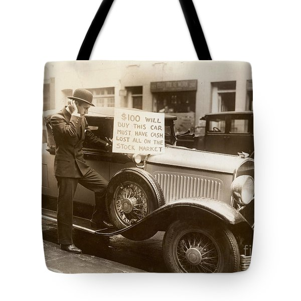 Wall Street Crash, 1929 Tote Bag