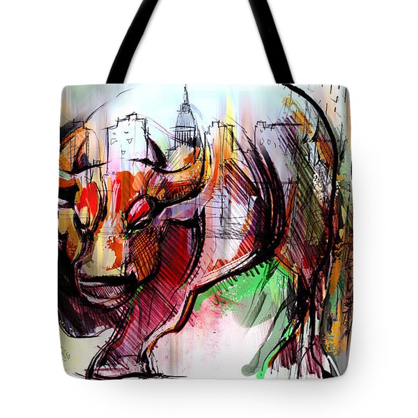 Wall Street New Money Tote Bag