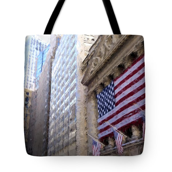 Wall Street, Nyc Tote Bag by Matthew Ashton