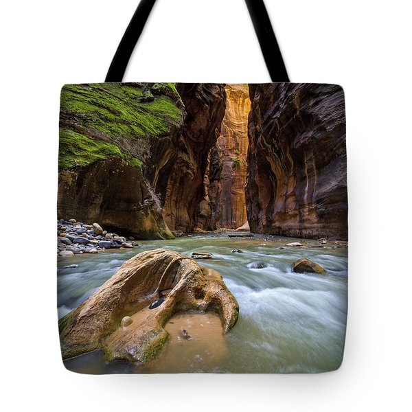 Wall Street Of The Narrows Tote Bag