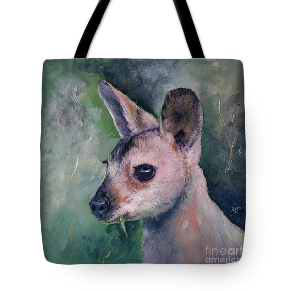 Wallaby Grazing Tote Bag