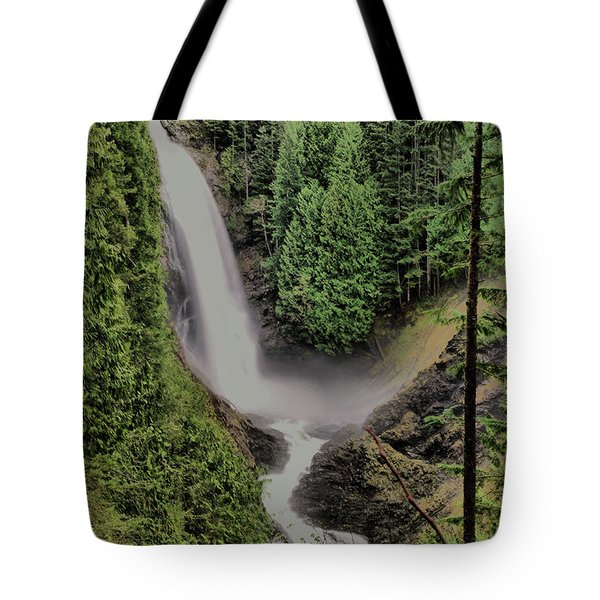 Tote Bag featuring the photograph Wallace Falls by Jeff Swan